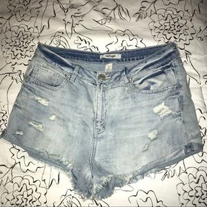 Refuge High-Waisted Distressed Shorts